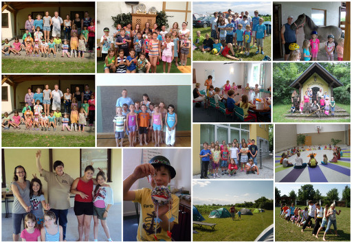 Kindersommer Bilder als Collage